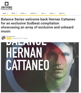 Top review on Decoded mag for Hernan's new Balance Album